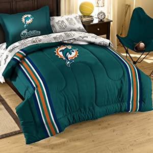 NFL Miami Dolphins Bedding Set, Twin