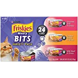 Friskies Wet Cat Food, Meaty Bits, 3-Flavor Variety Pack, 5.5-Ounce Can, Pack of 24