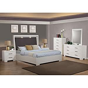 jessica white upholstered platform bedroom