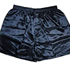Efashionmx Mens Silk Boxer Shorts Underwear (X-Large, Navy Blue)