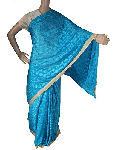 Beautiful RUDA Designer Phulkari Embroidered Saree-JS1112