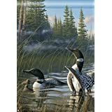 Loons Lake Summer House Flag Everyday Outdoor Cabin Geese Wildlife 28