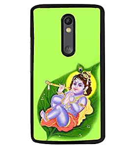 Fuson Premium Little Krishna Metal Printed with Hard Plastic Back Case Cover for Motorola Moto G3