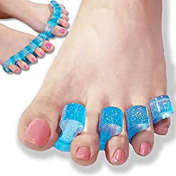 webueat Gel Flex Toe Stretchers Alleviating Foot Pain After Ballet, Dance, Yoga and Sports Activities - Effective pain Relief for Bunions & Other Foot Aches
