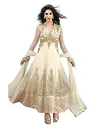 Brides Galleria Women's Net Resham Anarkali Semi Stitched Anarkali Dress Material
