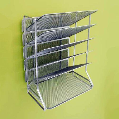 Seville classics office desk organizer mesh 6 trays new ebay - Mesh desk organizer ...