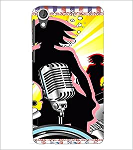 PrintDhaba Music D-4216 Back Case Cover for HTC DESIRE 820 (Multi-Coloured)