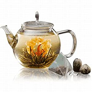 Teaposy Celebrate Gift Set Blossoming Tea Sachets Glassware Clear - Teaposy TP-GIFTCE