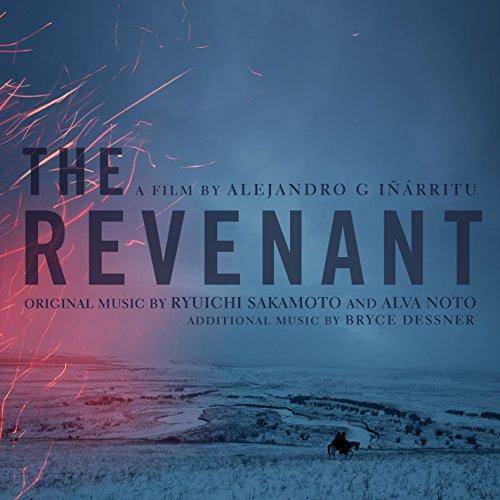 Original album cover of The Revenant (Original Motion Picture Soundtrack) by Ryuichi Sakamoto, Alva Noto, and Bryce Dessner