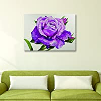 House Things Pink Rose Canvas Print 29 X 20.56, Inches Wall Décor Art