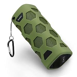 Qooltek Waterproof Sport Speaker Portable Wireless Bluetooth 4.0 Speaker Built-in Mic with NFC and Power Bank Function