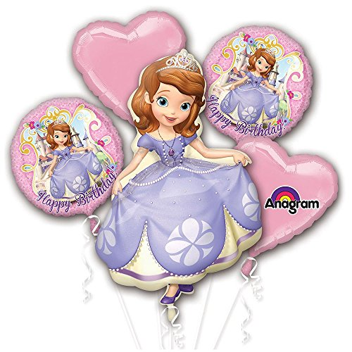 1 X Sofia Happy Birthday Bouquet Balloons
