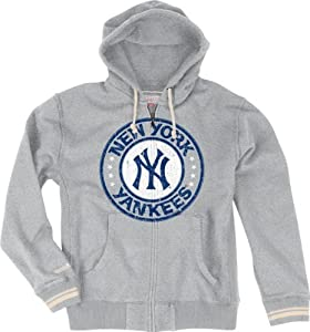 New York Yankees Mitchell & Ness 2013 Vintage Grey Full Zip Premium Hooded... by Mitchell & Ness