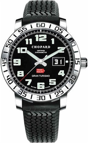 Chopard Mille Miglia Gran Turismo Steel Black Rubber Mens Watch 16/8955