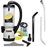 ProTeam Vacuum Backpack 100280 LineVacer ULPA 10 Quart Commercial Backpack Vacuum Cleaner With High Filtration Tool Kit