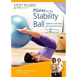 Stott Pilates Pilates on the Stability Ball DVD (Set of 2)