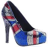 Iron Fist Jacked Up Union Jack Sequin Platform Heels Shoes (UK 8)