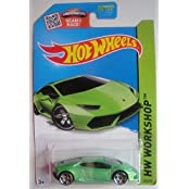 HOT WHEELS SHOWDOWN SCAN &RACE! HW WORKSHOP GREEN LAMBORGHINI HURACAN LP 610-4 222/250