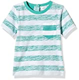 Pumpkin Patch Baby-Boys Reverse Stripe Tee Striped T-Shirt, Green (Tropical Green), 0-3 Months (Manufacturer Size:0-3M))