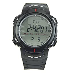 Fashion Multi Function Waterproof Digital Unisex LCD Sporting Alarm Date Mens Military Sport Wrist LED Watch Exercise & Fitness