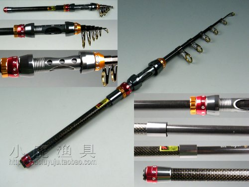 Promotion! 180Cm~360Cm Protable Telescope Mini Pen Fishing Rod Rods Spinning Fishing Rod Pole (360Cm)