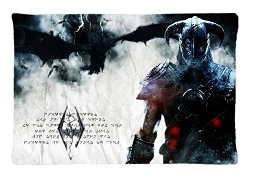 Surful Gift Pillow Case ~ Video games dragons the elder scrolls posters hero the elder scrolls v skyrim dovahkiin dragonborn alduin alduin the world eater ~ Image (One Side) Custom 30x20 Inches Pillowcase