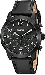 Fossil Pilot 54 Chronograph Leather Watch
