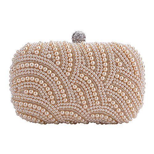 ZEARO borsa pochette di Perline Perle Cerimonia donna elegante handbag