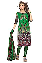 Variation Women's Green Crepe Unstiched Dress Material (VD11903)