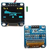 """Diymall 0.96"""" Inch Yellow and Blue I2c IIC Serial 128x64 Oled LCD Oled LED Module for Arduino Display 51 Msp420 Stim32 SCR"""