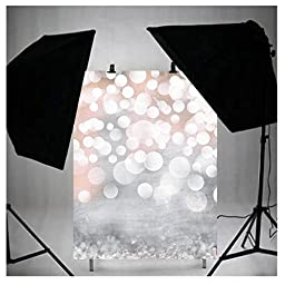 LB 3x5ft Hazy bubble Vinyl Photography Backdrop Customized Photo Background Studio Prop DZ51