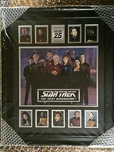 """Star Trek TNG 18"""" x 22"""" framed cast photo"""