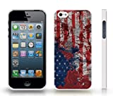 Historic Battle of Iwo Jima and USA Flag Graphic Design Snap-on Cover Hard Carrying Case for iPhone 4/4s (White)