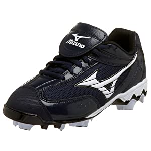 Mizuno Women's Watley 9Spike Suplite SS Softball Cleat,Navy/White,5 M