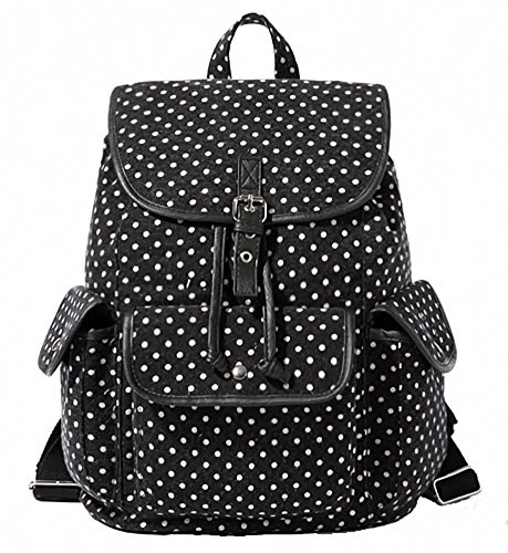 School bags messenger girl - Kenox Casual Canvas Travel School College Backpack Bookbags Daypack