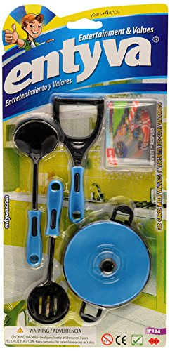 Cooking Kitchen Chef Set Toy - Pretend & Play Cooking Set (Styles & Colors Assorted) - Entyva