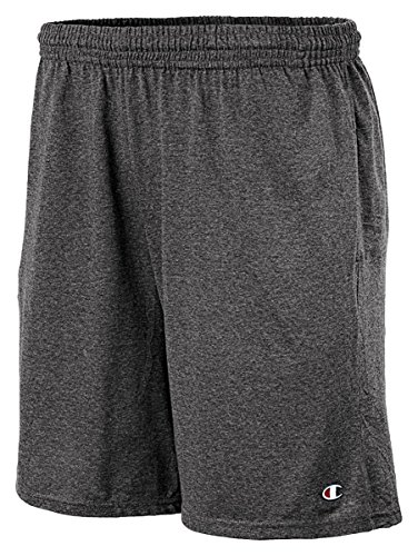 Champion Authentic Cotton 9-Inch Men's Shorts with Pockets_Granite Heather_XX-L