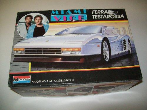 Miami Vice Ferrari Testarossa - 1:24 Monogram Model Car Kit - 1987