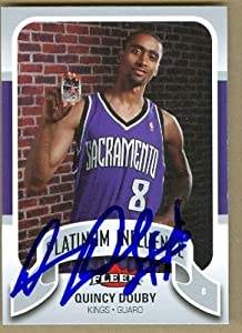 Quincy Douby Autographed Hand Signed Basketball Card (Sacramento Kings) 2006 Fleer... by Hall of Fame Memorabilia