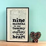 MumStuff - Nine Months in My Tummy... Pregnancy Wall Art Gift