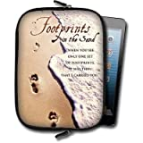 Footprints Small Neoprene Tablet Case Angel Star Suitable for most 20.3 cm ( 8 Inch) Tablets and e readers