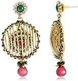 Niki Jewels Copper Dangle & Drop Earring For Women (Multi-Colour)