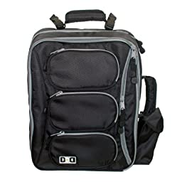 Diaper Dude Convertible Messenger Backpack - Black