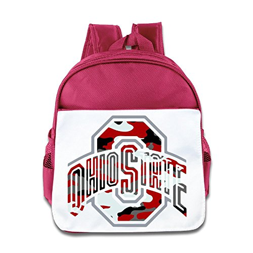 Jade Custom Cute Ohio O State University Camouflage Kids Children Schoolbag For 1-6 Years Old Pink