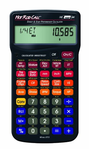 Calculated Industries Hot Rod Calc - Road and Strip Performance Calculator - Mr. Gasket - RC-CI8703 - ISBN:B003DITJEY