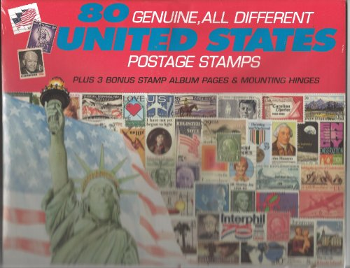 80 Genuine Postage Stamps Assortment - United States