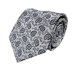 Rossini Men's Tie (UFAM43_Grey_Free Size)