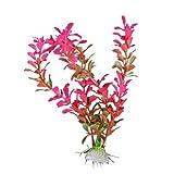 Generic 18cm Plastic Aquarium Plants Ornament for Fish Tank - Fuschia
