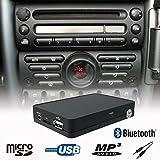 Stereo Bluetooth Handsfree A2DP USB SD AUX MP3 WMA CD Changer Adapter Interface Car Kit Mini Cooper R50 R52 R53 Boost Radio