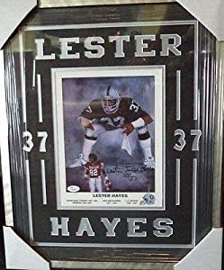 Lester judge Hayes Oakland Raiders Signed 11x14 Photo Matted & Framed Jsa Coa -... by Sports Memorabilia